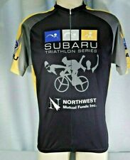 2XU Subaru Triathlon Short Sleeve Cycling Jersey 7/8 zip Men's XL Road Mountain