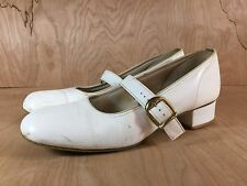 Womens White Promenaders Square Dancing Shoes Mary Jane Size 9 M Made in USA