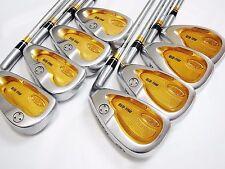 18K Gold 3star HONMA Twin Marks MG-818 8pc R-Flex IRONS SET Golf Club 7107