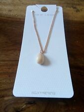 Women's New Look shell pendant Gold statement necklace