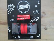 5 seconds of summer casque audio casque. noir/rouge. neuf.