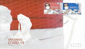 Indonesia - Indonesie New Issue 2021-02-26 (FDC) Vaccination Wuhan Virus
