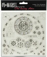 49 and Market Memory Captured 6x6 Archival Board Laser Cut Shapes #ab-88701