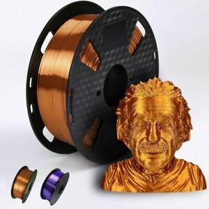 3D Printer Filament PLA 1.75mm 210°C Metallic Feel Shiny Silk Solid Copper Lot