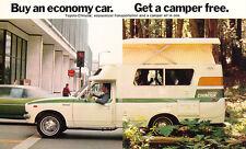 1976 1977 Toyota Chinook Motorhome Camper Brochure like Postcard 1-page