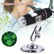 1600x Zoom Camera USB 8 LED Light Magnifier Digital Microscope Stand Video Gifts