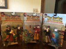 The Beatles McFarlane 3 Figures Yellow Sub SGT Peppers John Paul Ringo MOC NIB