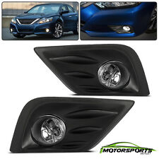 For 2016 2017 Nissan Altima Bumper Fog Lights Pair+Switch+Bulbs+Wiring Harness