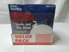 2 Pack Fire Sentry Micro Profile Smoke and Fire Alarm Model 0914