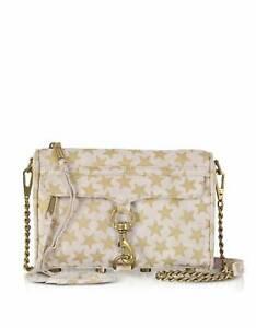 REBECCA MINKOFF Nude Stars Mini MAC Clutch Cross-body Bag $195 NEW