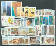 Namibia 11 sets of 3 or 4 stamps (43 stamps)  MNH birds, animals fish etc