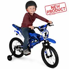 "16"" Kids Moto Cross Bicycle BMX Child Boy Bicycle Outdoor Fun Ride Kid Boys Blue"