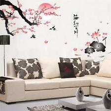 Blossom Flowers Tree Wall Stickers Mural Decal Wallpaper Decor Verse Art
