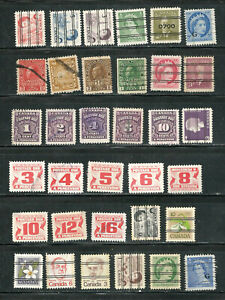 a stock page of used stamps from the Back of the Book from Canada.