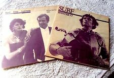 LOT OF 2 MOVIE SCHEDULE MAILERS FOR THE SURF THEATRE IN SAN FRANCISCO 1975 77