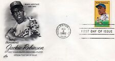 JACKIE ROBINSON 1982 USPS First Day Cover 20¢