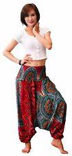 Harem Aladdin Casual Trouser Boho Baggy Mens Woman Yoga Indian Hippie Pants N039
