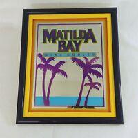 "Bar Mirror Framed Wall Art Pub Decor Matilda Bay Wine Cooler Advertising 16""x19"""