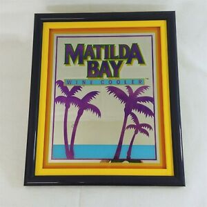 "Bar Mirror Framed Wall Art Pub Decor Matilda Bay Wine Cooler Advertising 16""x19"""