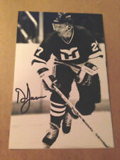 Doug Jarvis SIGNED 4x6 photo HARTFORD WHALERS