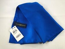 "NEW CLUB ROOM Silk Pocket Square Handkerchief ~ $32 NWT 13.5"" Solid Blue 3298"