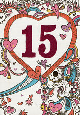girls 15th happy birthday card 15 today - 3 x cards to choose from!
