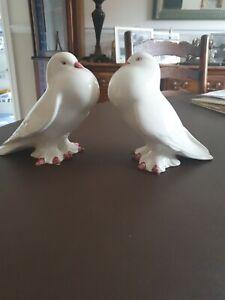 Vintage Casa Pupo White Pair of Doves (male)