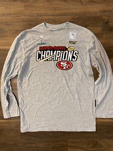NFL SAN FRANCISCO 49ers SUPER BOWL LIV Error CHAMPIONS Fanatics Tee Size XL NEW