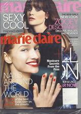 Zooey Deschanel Marie Claire Magazine Sep 2013 Nails Around the World SEALED