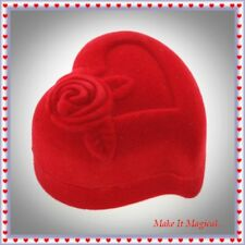 Valentines Day Heart Shaped Ring Box Gift