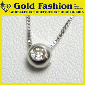 Collana oro con diamante ct. 0,09 - cod. GF5002