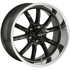 Staggered Ridler 650 Front18x8rear18x9.5 5x4.75 0mm Black Wheels Rims