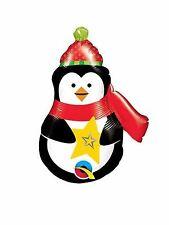 "Christmas Penguin Air Fill Foil Balloon, 14"" tall"