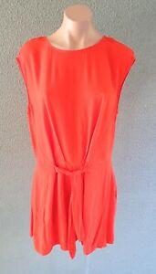 ❤️ ZARA Summer Cap Sleeve Romper Red Size L Buy7=FreePost L886