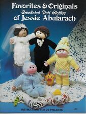 Crocheted Doll Clothes of Jessie Abularach Vintage Pattern Book