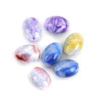 100 Stück Acryl Perlen Oval Zufällig Mix Spalte Imitat Stein Perlen ca. 14*10mm