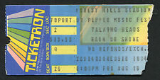 1983 Talking Heads Concert Ticket Stub Forest Hills Ny Speaking In Tongues