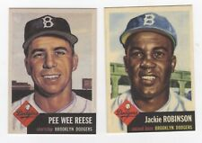BASEBALL LOT #360 jackie ROBINSON and pee wee REESE ROOMMATES WITH DODGERS