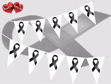 Victim SOUTIEN noir ruban thème Guirlande fanions enterrement Grieve par Fête