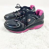 Skechers Shape Ups Shoes Fitness Walking Sneakers Women's US 10 Black Pink