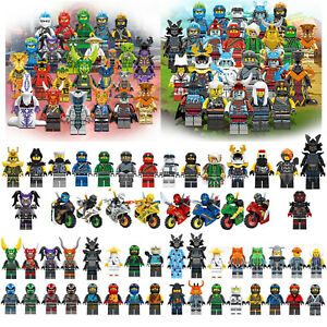 24pcs Ninjago Mini Figures Kai Jay Sensei Wu Master Fit Lego Building Blocks Toy