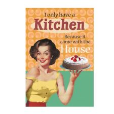 "Retro Humour ""I Only Have A Kitchen"" Greetings Card Birthday Gift Occasion Funny"