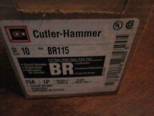 CUTLER HAMMER BR115 THERMAL MAGNETIC; 1 POLE; 120/240 VAC; 15 AMPERE
