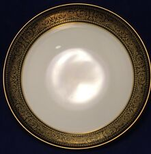 Mikasa Mount Holyoke Round Vegetable Bowl Narumi Gold Flowers Scroll Black Band