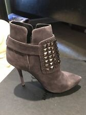 NIB Rock & Republic leather ysl Grey Studded Booties All Saints suede Boots sz 7
