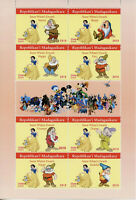 Madagascar 2019 MNH Snow White & Seven Dwarves 8v M/S Disney Cartoons Stamps