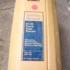 CAT Caterpillar D11R Tractor Dozer Crawler Repair Service Shop Manual overhaul