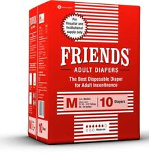 Friends Adult Diapers (10 Diapers) (Medium) UNISEX FS