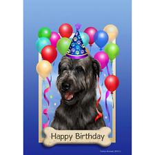 Irish Wolfhound Black Happy Birthday Flag