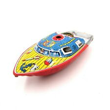 Vintage Tin Toy Pop Pop Boat Japan Made 1960's Putt Putt Boat Ship